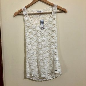 NWT Garage Floral Lace Tank Top/ Camisole